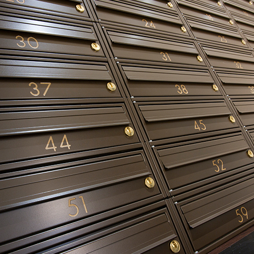 Great Minster House - Bronze Mailboxes