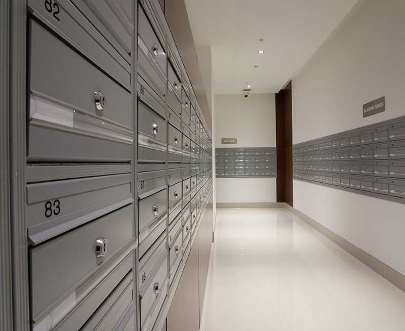 Wall Recessed COM 2 Mail Boxes