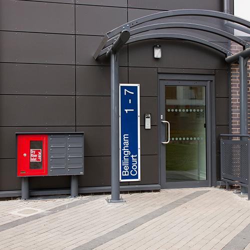 Hertfordshire University - Freestanding Mailboxes