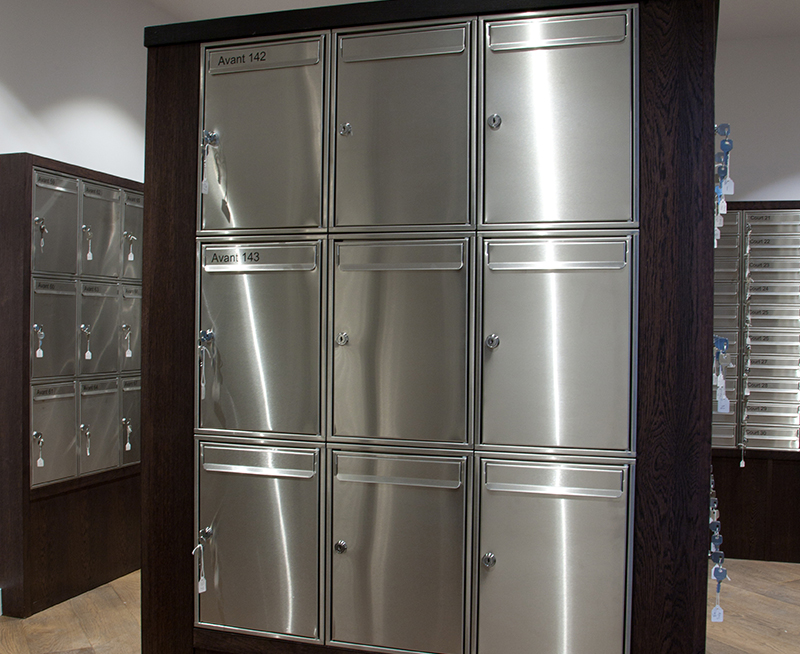 Stainless Steel 1 Letterboxes