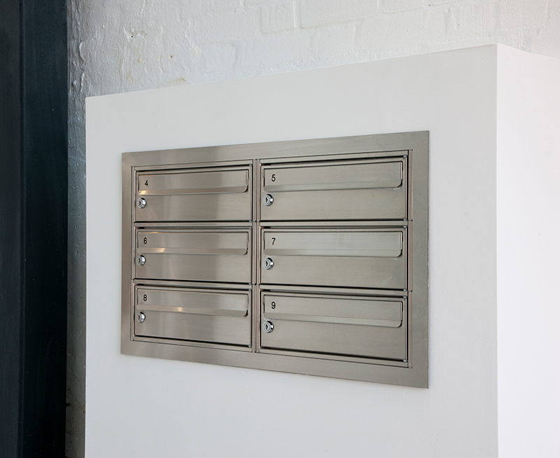 Stainless Steel 2 Letterbox