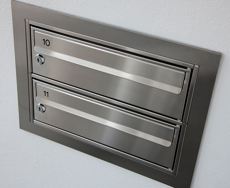 Stainless Steel 2 Mailbox