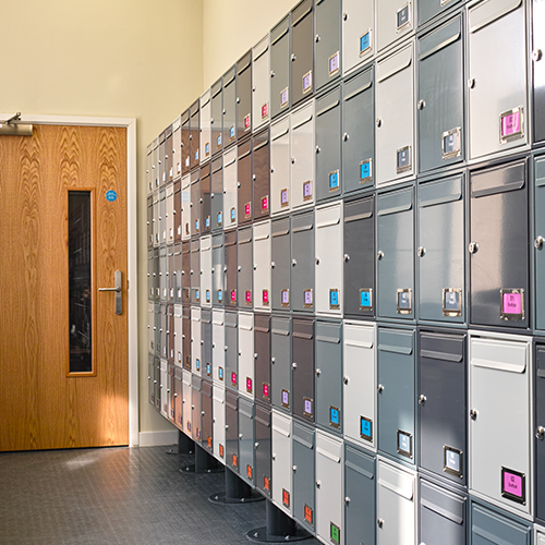 Swansea University - Steel 1 Mailboxes