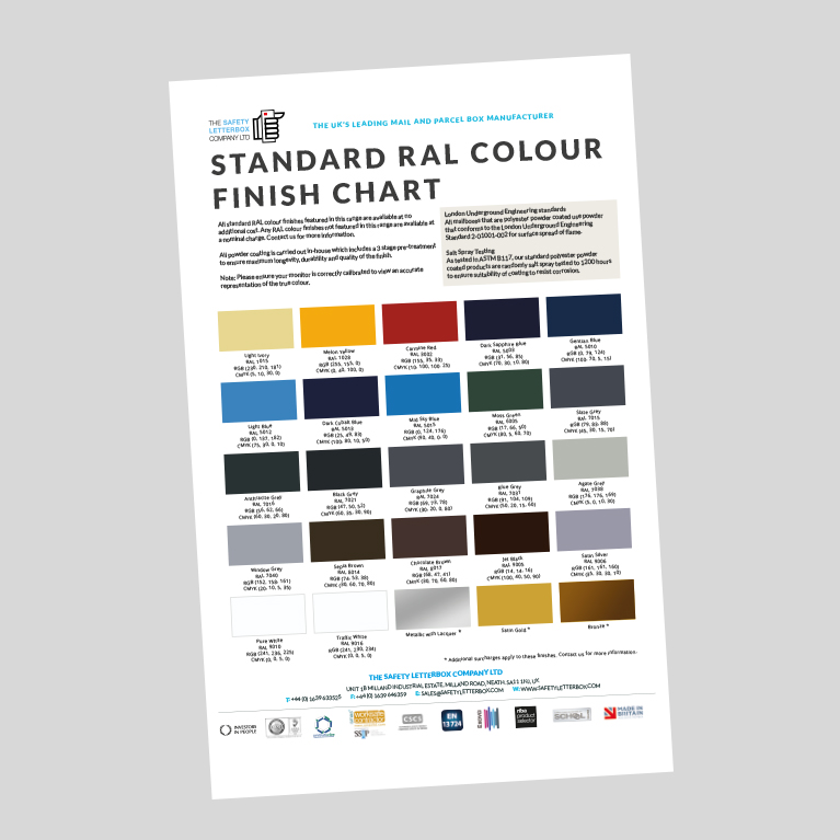 the-safety-letterbox-company-ral-colour-chart