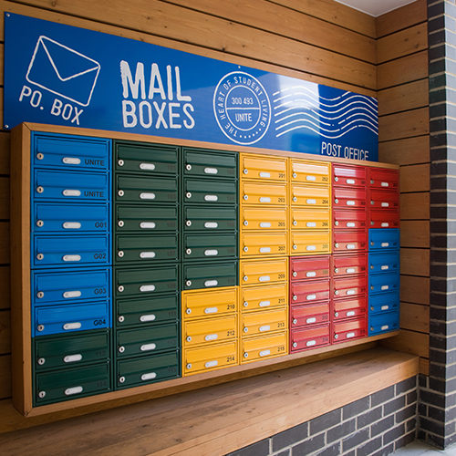 Wall Mounted Colourful Mailboxes
