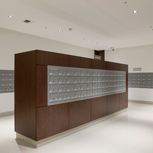 Wall Recessed COM 2 Mailboxes
