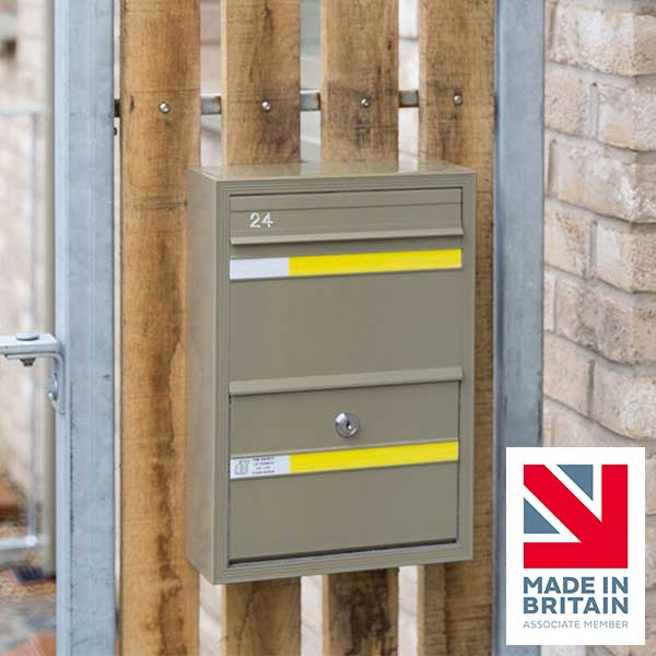 COM 1 Wall Mounted Post Box from The Safety Letterbox Company