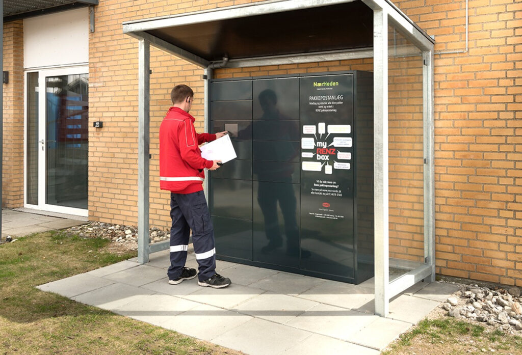 courier parcel lockers by the safety letterbox company