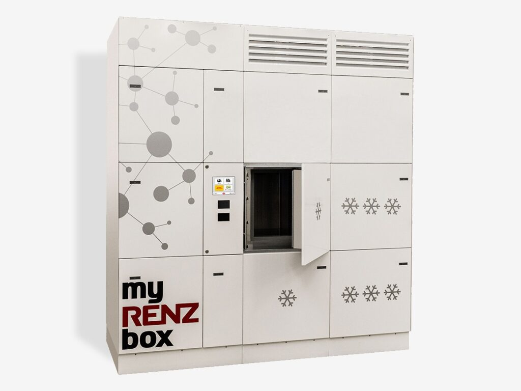 refridgerated click and collect lockers by the safety letterbox company