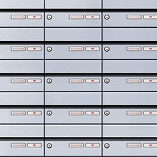 horizontal line mailboxes