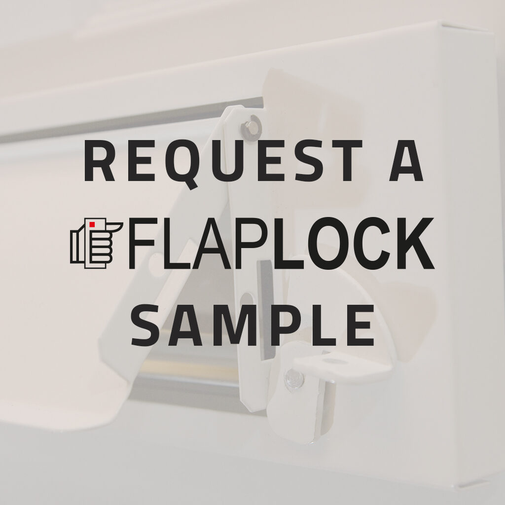 Request a Flaplock Sample from The Safety Letterbox Company